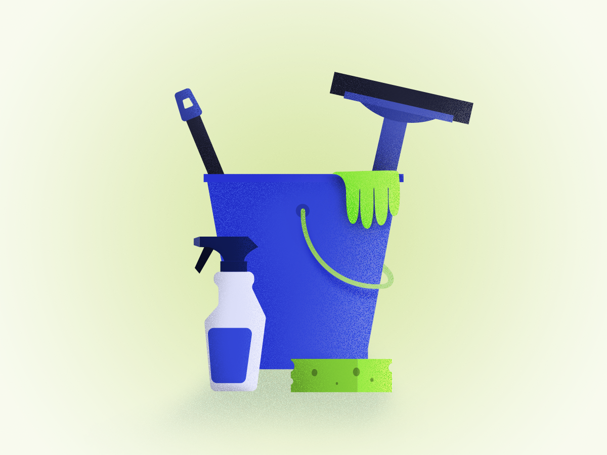 Cleaning Services Illustration cleaning service minimal design illustration