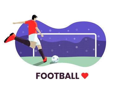 Football love illustration | Day 2 | 100 day challenge