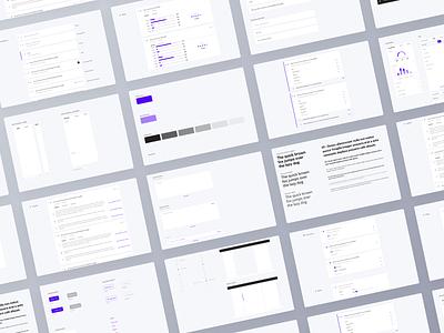 Buffl - Design system data ux design system purple questions survey brandbook styleguide system design system