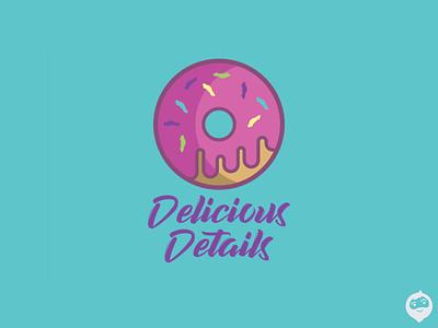 Delicious Details branding logotype doughnut logo design logodesign logo