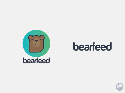 Bearfeed logodesign logotype logo design bear logo logo bear