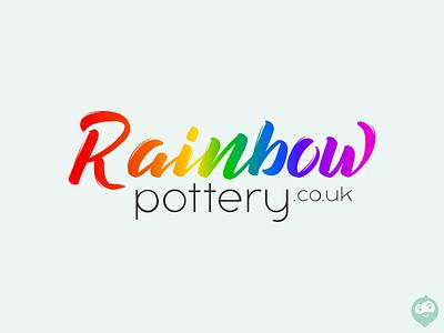 Rainbow Pottery logotype logo design branding logodesign logo rainbow pottery pottery rainbow
