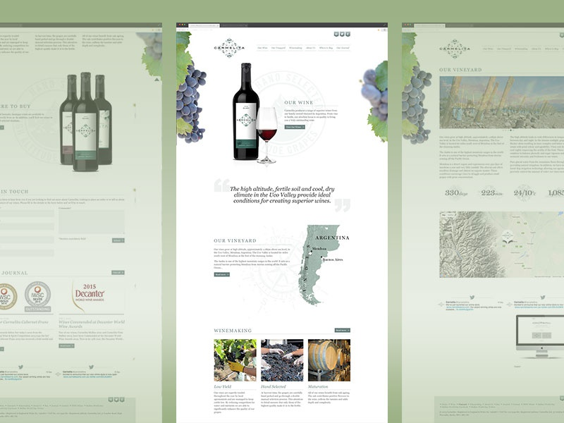 Carmelita Wine design css html website