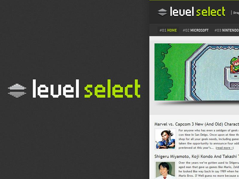 Level Select wodpress design css html website