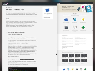Infinity - Knowledge Base design css html website