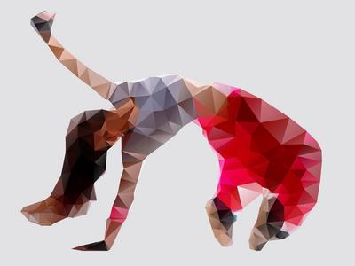 Low-res Polygon Dancer
