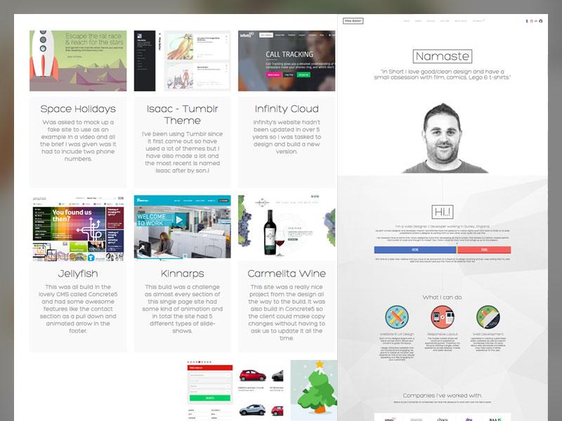 Mike Ballan.co.uk portfolio icons design css html website