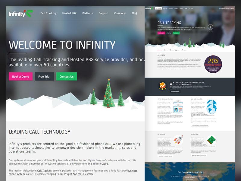 Infinity Chistmas website css html christmas