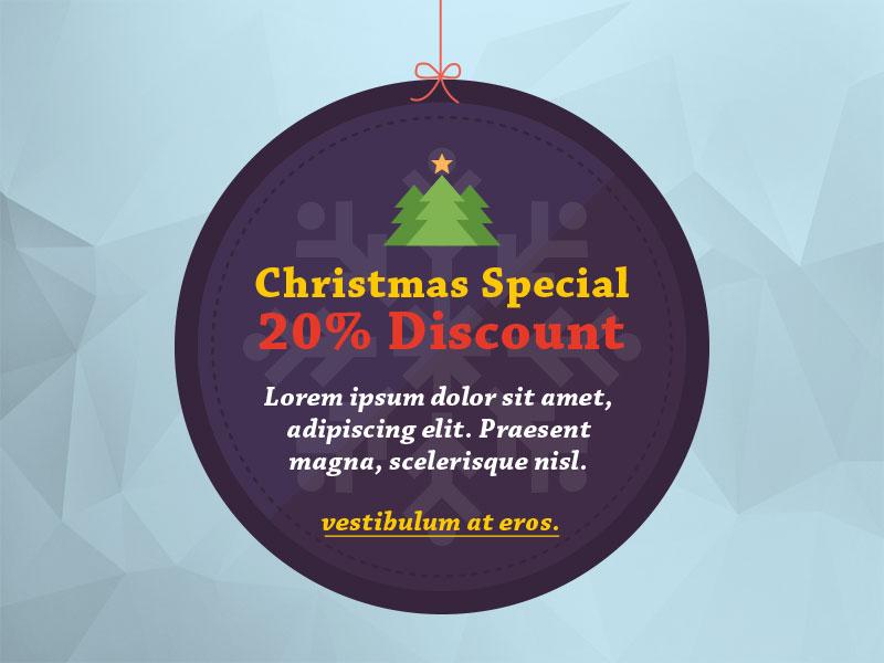 Christmas Offer illustrator photoshop