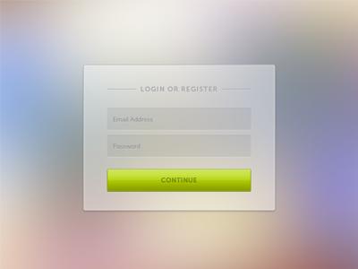 Login Form buttons overlay modal input button login form ui