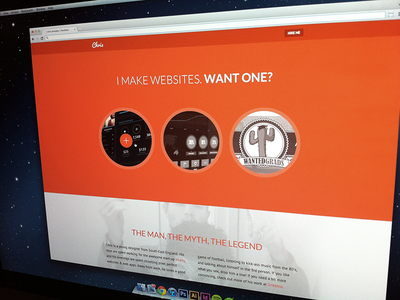 Portfolio Redesign orange portfolio lato pt sans website web design clean