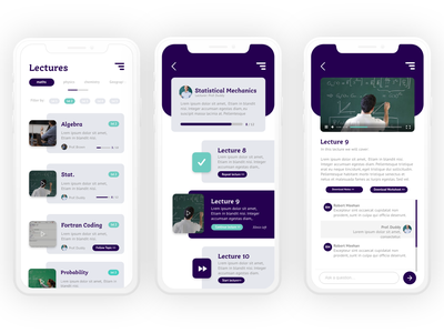 University App | Side Project app design product design ui ux design app ux