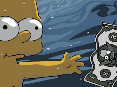 Nevermind krusty simpsons illustration