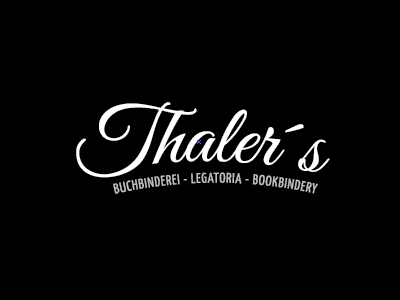 Thaler´s Logo - Simple draft logo book retro vector company logo
