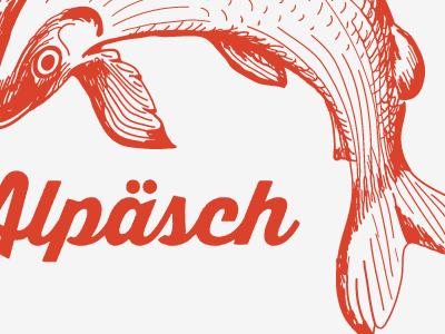 Alpäsch Logo logo fish logo fish sea ocean simple logo
