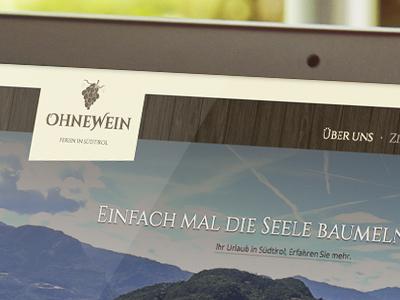 WIP: Website and Logo for: Ohnewein - Ferien in Südtirol südtirol ferien wip there´s a hidden cat!