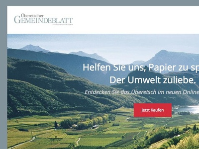 Online Abo Landing Page 2014 - 2015 italy südtirol south tyrol online abo landing page