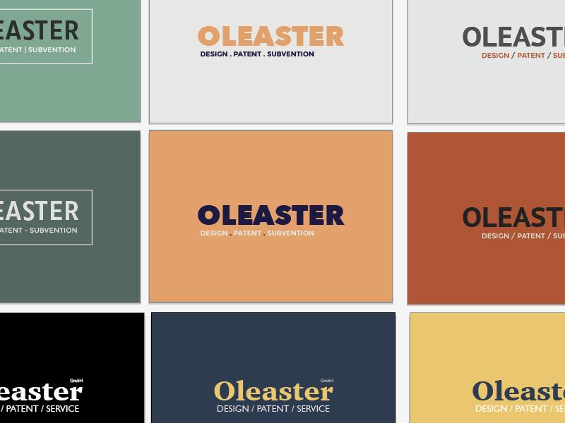 Oleaster - Logo Exploration design visual cd ci exploration logo