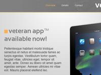 Veteran iPad - Landing Page