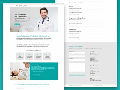 Jenny (WIP) responsive landing-page medical