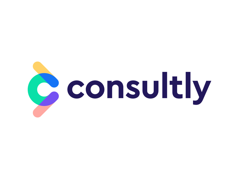 consultly logo concept pt.3 | online consulting platform arms up platform communication trust connection social human growth leader consulting help forward motion moving fast c monogram arrow icon branding logo
