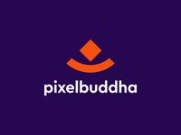 Pixelbuddha logo concept branding logo