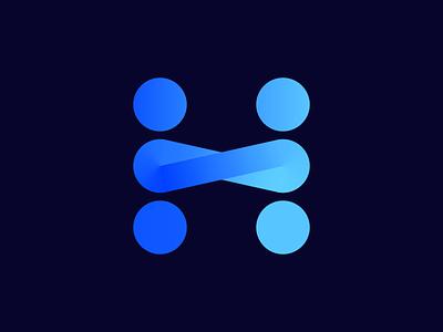 H monogram for legal agreement platform (wip) tool gradient infinite forever service help form text vadim circle online web together brand brands carazan branding logo