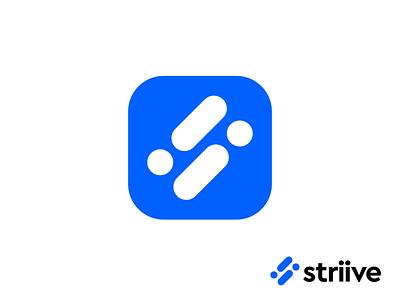 Logo concept for management software s monogram dots i branding logo