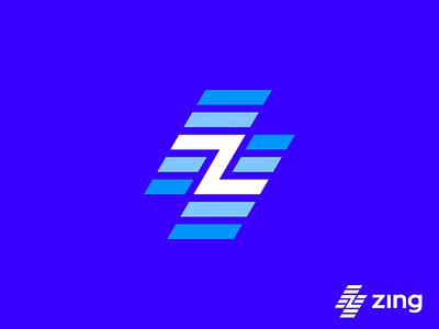 Zing logo (unused) z bolt fast speed branding logo