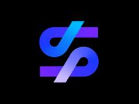 S monogram letter lettering line gradient branding logo
