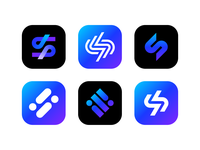 Logo concepts for fitness management app icon app fitness s brandind logo