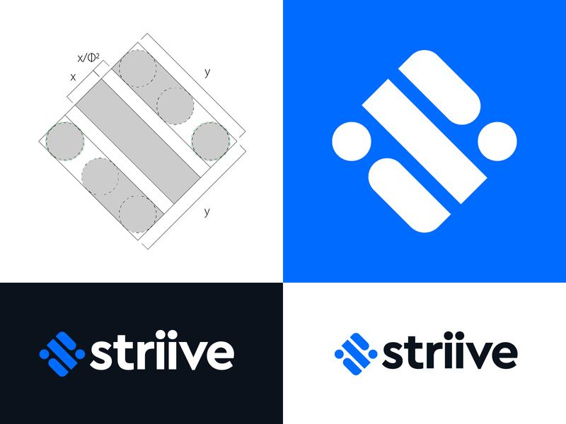 Striive logo design s monogram lettering branding logo