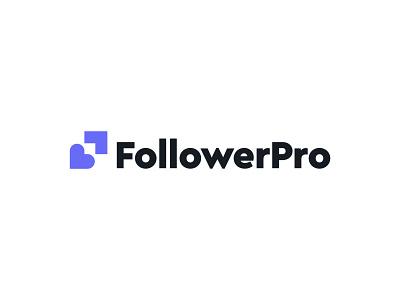 FollowerPro logo concept pt.1 arrow  growth social media heart branding logo