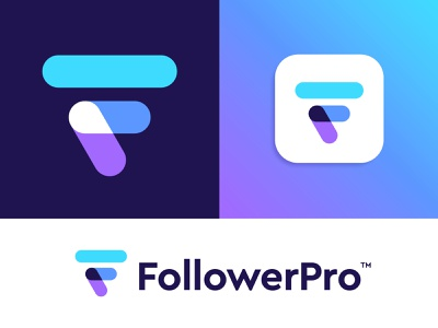 FollowerPro logo design branding logo