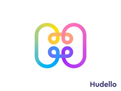 H monogram for huddle h monogram letter branding design logo