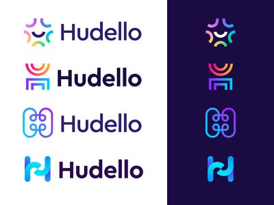 Hudello logo concepts branding logo