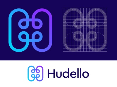 Hudello logo concept (unused) branding logo