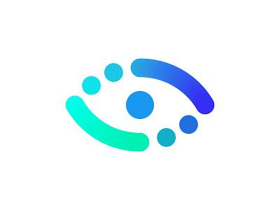 EYE LOGO vision eye logo icon laser correction surgery clinic focus health medical mark