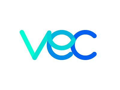 VEC monogram ( Vision Eye Centres) vec monogram vision surgery medical mark logo laser health eye correction clinic
