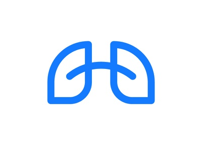 H+Lungs breath healthcare health lung organ human gas chimical logotype product doctor brand branding logo h letter lettering wordmark icon mark lungs pulmonary respiratory medical medicine nuclear