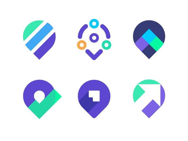 Pin logo exploration | Digital marketing company by Vadim Carazan on