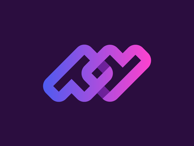 pd monogram for Virtual DOM builder and patch algorithm dynamic dynamicity data link connected infinite web frame framework pd dp motion shadow gradient fast branding brand identity developing software technology link coding developer icon p d pd monogram logo