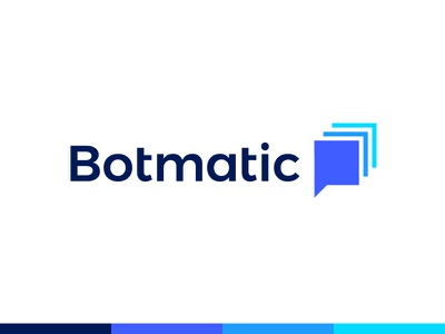 Botmatic logo  | Chatbot platform message conversation chat bot social b box bubble task auto automatic automation  smart app platform negative space chatbot monogram letter icon brand branding future futuristic bot robot
