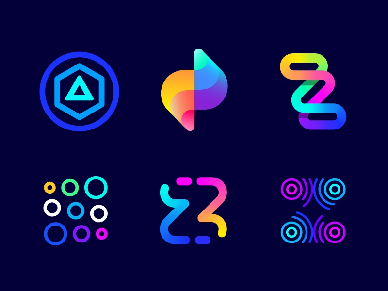 Logo concepts explorations for Zoominfly | Drone racing park track competition neon technology game futuristic waves icon monogram icon mark entertainment gradient air futuristic geometric fast dynamic flying abstract colorful fun recreation course light s geometric future bright lighting air flow fly bolt z letter