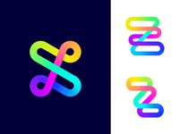 Logo concept variations for Zoominfly | Drone racing park entertainment fun relax adrenaline happiness happy recreation event lettering typography crossed tech race power racing park obstacles glowing hypnotise hypnosis future futuristic neon fast quick technology geometry geometric shape drone fly zoom