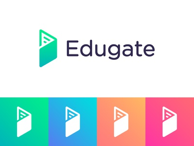 Logo concept for educational pass management app student teacher trustworthy management school security hexagon minimalist geometry door open access data geometric pass arrow passport logo icon abstract book education edu gate