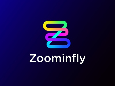 Zoominfly logo | Drone racing park logo tech race power racing park obstacles glowing hypnotise hypnosis future futuristic neon fast quick technology geometry geometric shape drone fly zoom