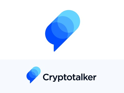 Logo concept for cryptocurrency platform vadim carazan brands branding chart fintech blockchain bank bitcoin news portal multiple virtual branding technology money mark icon brand cryptocurrencies coin coins info information currency financial investment trading growth stats finance bubble text message chat platform talker crypto talk social