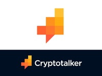 Logo concept for cryptocurrency platform chart portal multiple virtual branding technology money mark icon brand cryptocurrencies coin coins info information currency financial investment trading growth stats finance bubble text message chat platform talker crypto talk social