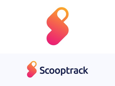 S + Pin + Track + Arrow logo concept for Scooptrack (unused) lighting light bolt hidden smart scoop technology negative space aggregator dynamic place product engine service pin local arrow fast bolt energy searching news up data connect connecting find search track icon mark location s pin monogram